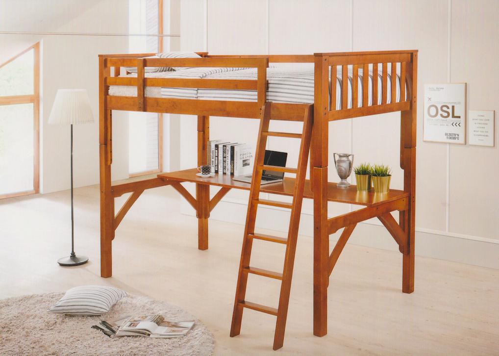 Solid Hardwood ( Malaysian Oak ). split into single bed