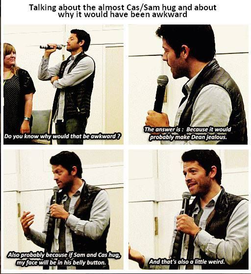 Misha!! I Love You. I Love You And Your Destiel Shipping