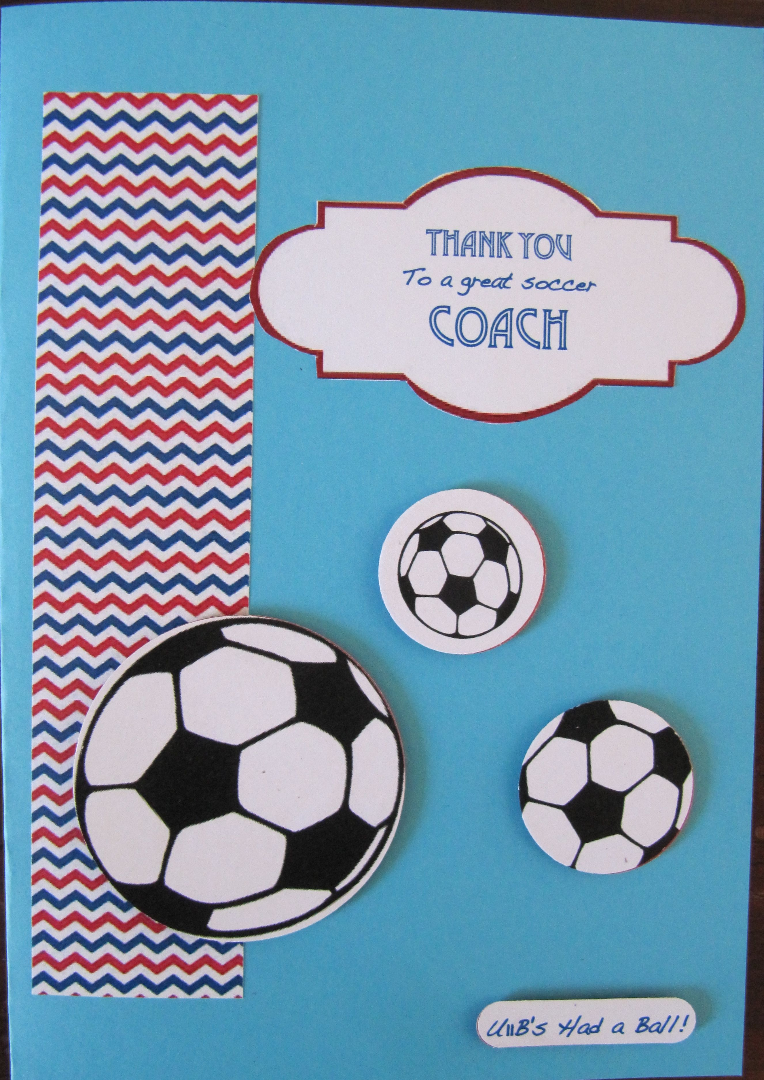 Soccer Coach Thank You Card Paper Crafts Cards Thank You Card Template Card Craft