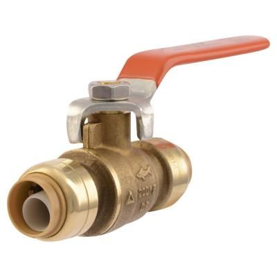 Sharkbite 1 2 In Brass Push To Connect Ball Valve In 2020 Diy Plumbing Pex Plumbing Pex Tubing