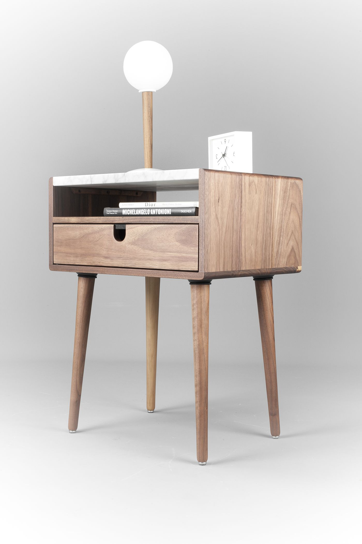 Best The Classic Design Of Our Walnut Nightstand Reflects Mid 400 x 300