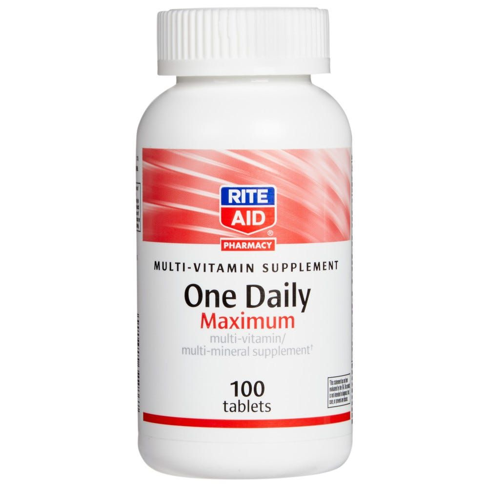 Rite Aid One Daily Multi Vitamin Tablets Maximum 100 Ct Vitamin Tablets Multivitamin Vitamins