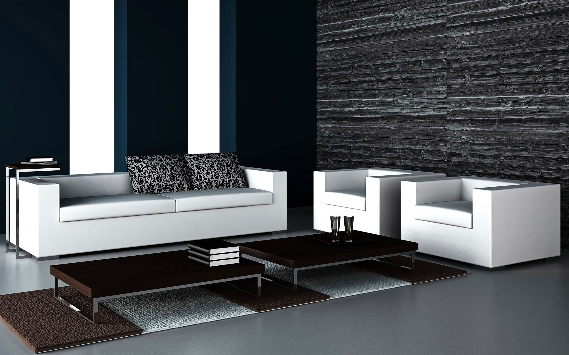black white living room wallpaper luxury modern dark living room