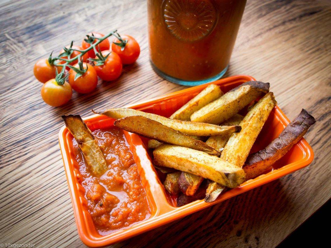 Zoete aardappel friet uit de oven-12