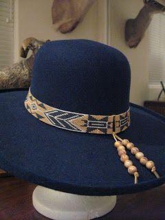 Red Panda Beads Miyuki 11 0 Delicas To Make Hat Bands Beaded Hat Cowboy Hat Bands Hat Band
