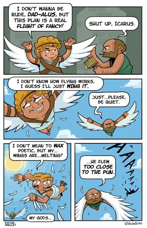 Oh My Gosh Daedalus The Puns Puns Money