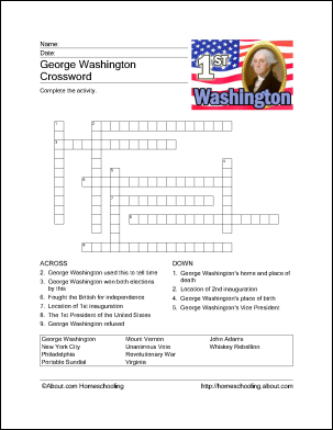 image relating to George Washington Printable Worksheets named Game titles and Routines for Presidents Working day household university
