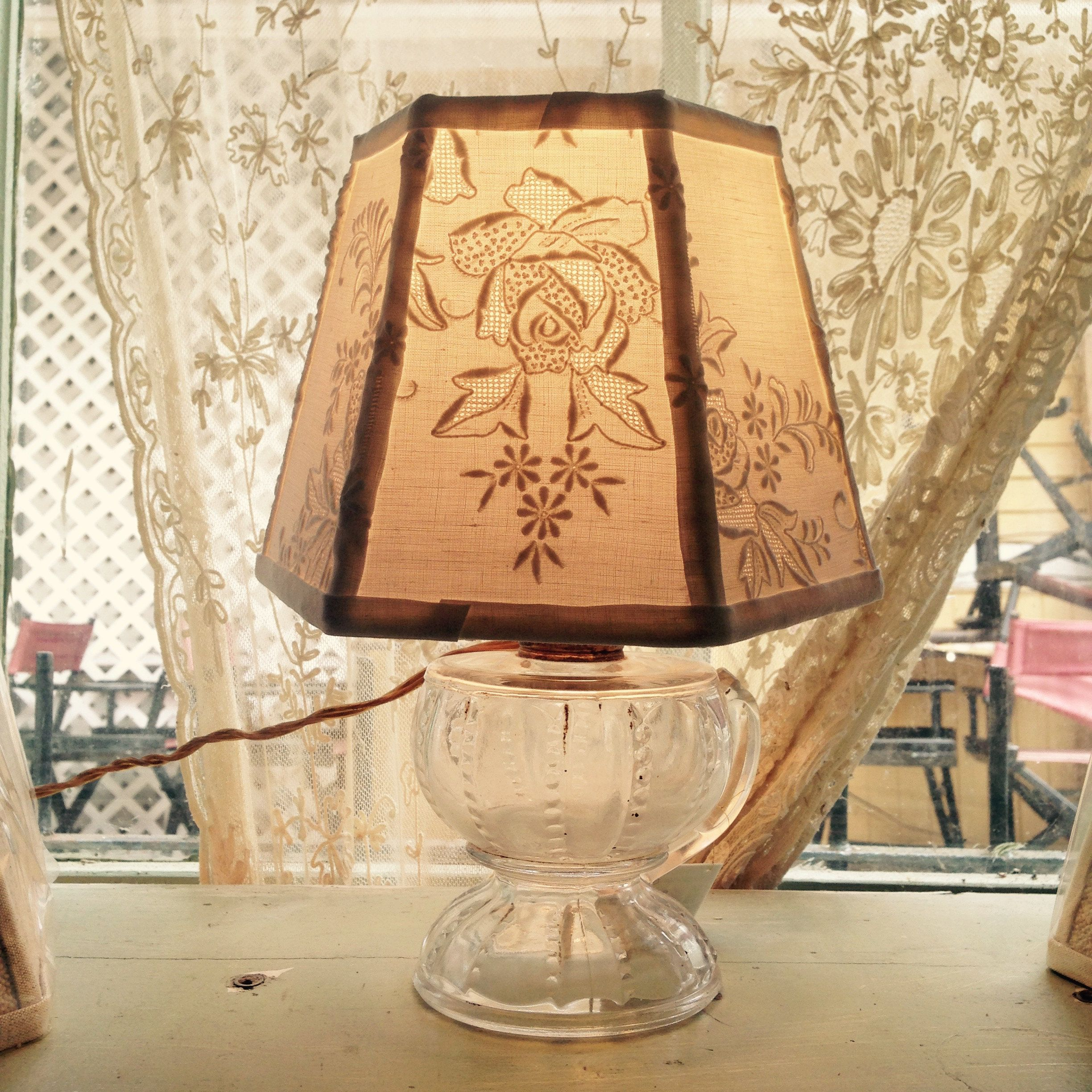 White Embroidery Lamp Shade Small Clip On Lampshade