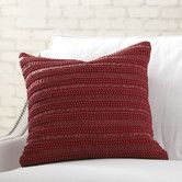 Found it at Birch Lane - Blake Beaded Pillow Cover, Red