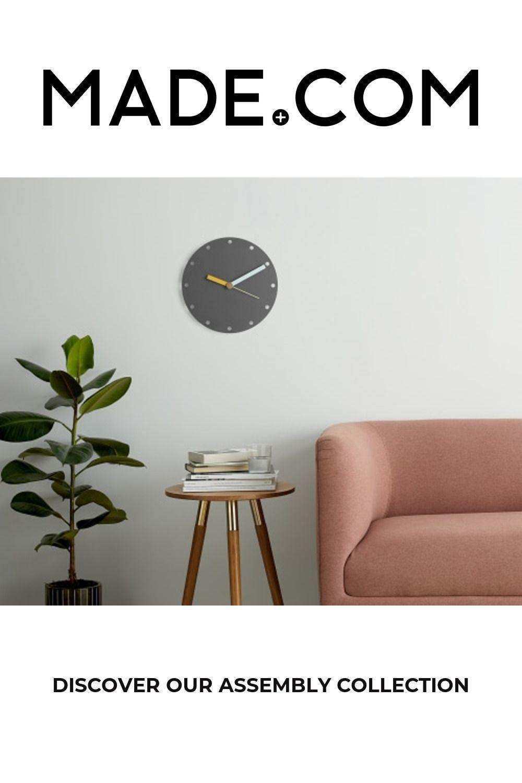 Assemblea Tom Pigeon Orologio Da Parete Carbone Di Legna In 2020 Grey Clocks Clock Home Decor