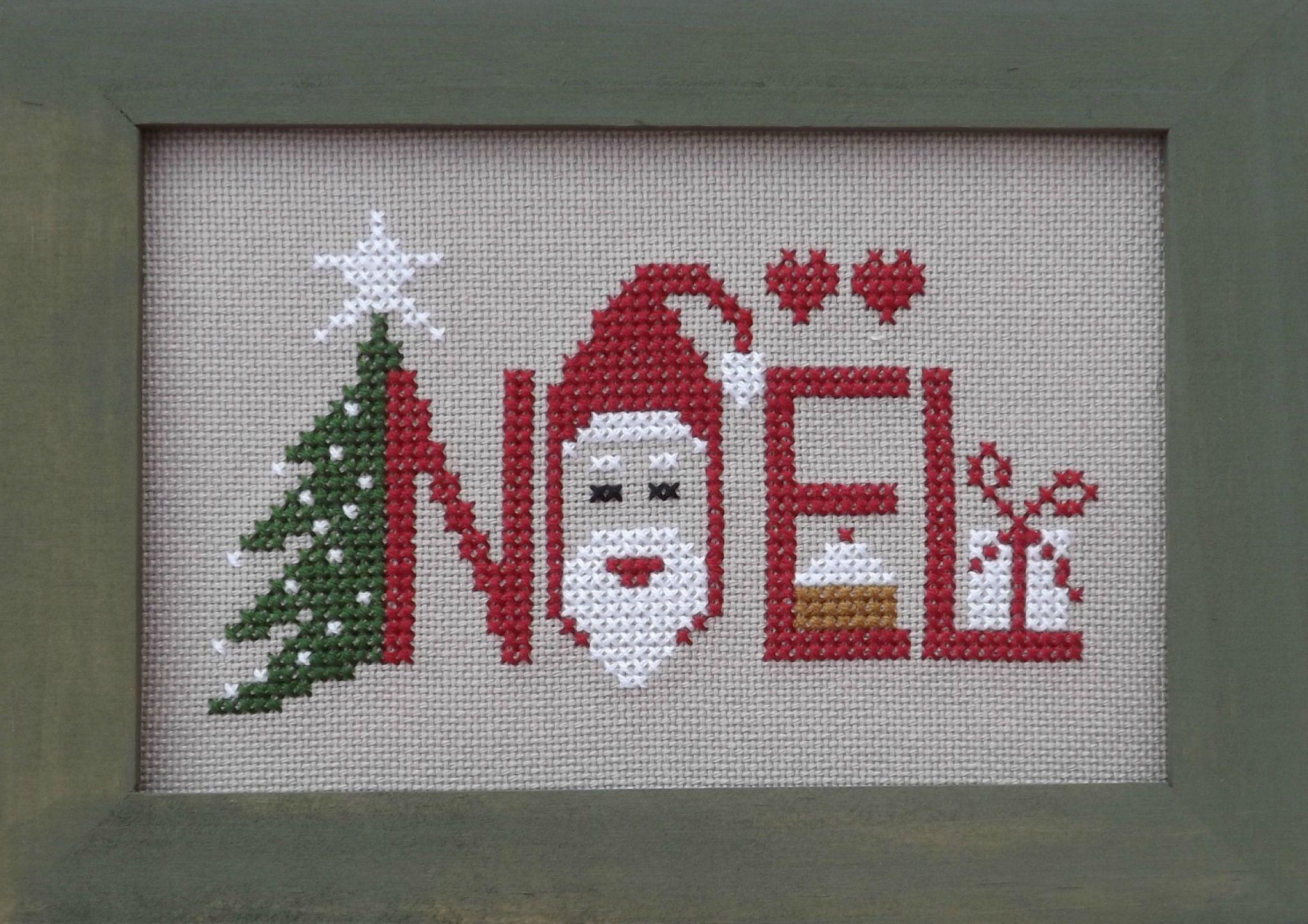 petit tableau, Noël | Point de croix noel, Point de croix