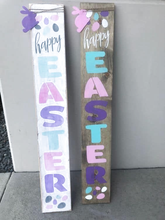 Easter Sign for your front door #easter #backyardporch #porchIdeas #frontDoorDecor