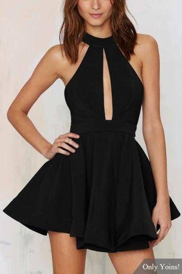 973276225e Sexy Black Skater Dress Fashion  Sexy  Fun  Flirty  Short  Sleeveless   Skater  Dress  LBD  Fashion