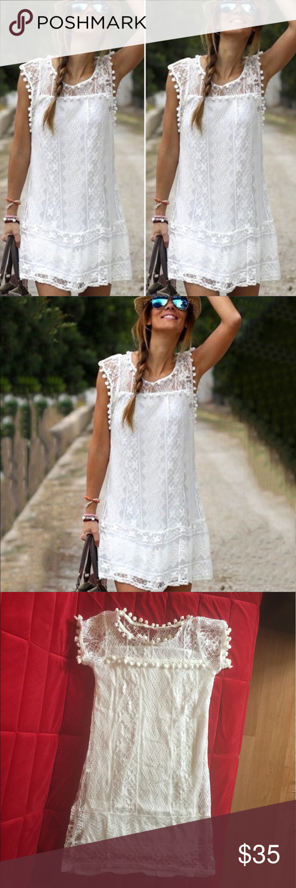 Nostalgia Lace Crochet Dress Brand New Stretchy And Very Comfortable To Skin In My Opinion