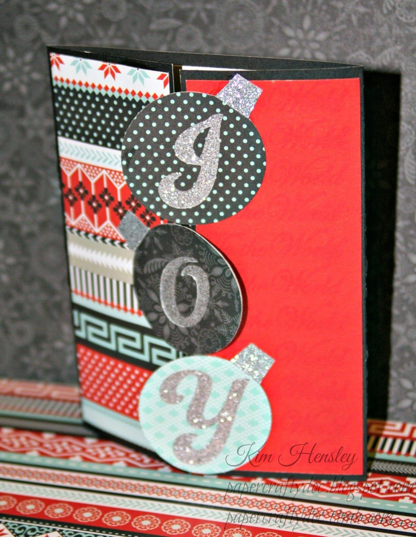 "CTMH Joy to the World Christmas card usin ""Noel"" stamp set"