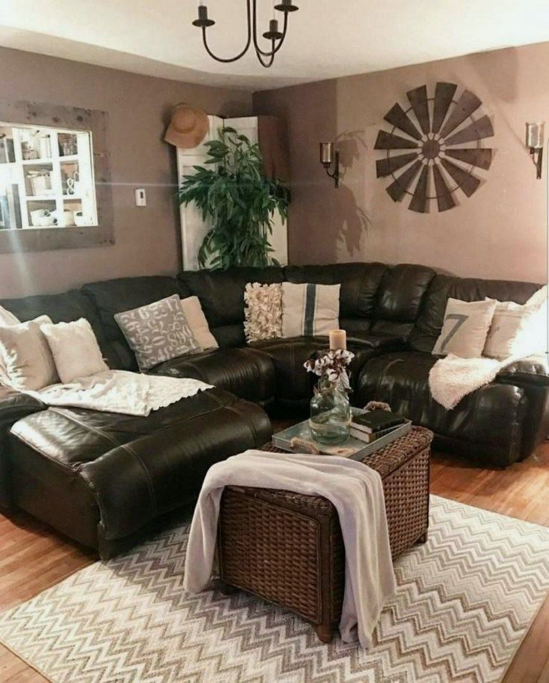 37 living room paint ideas with brown furniture 00017