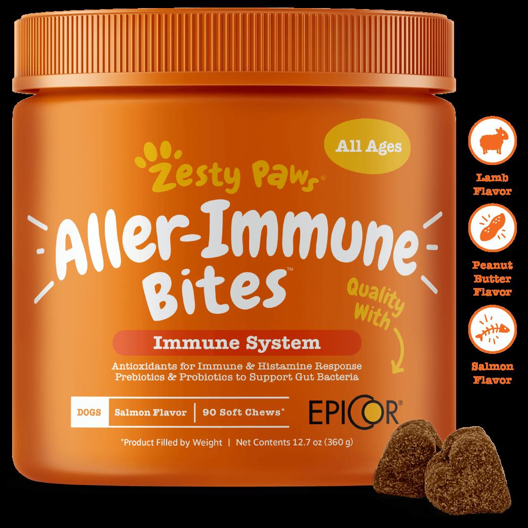 Allergy Immune Support Soft Chews With Salmon Oil Probiotics Colostrum Functional Dog Supplement Salmon Fish Oil Prebiotics And Probiotics Wild Alaskan Salmon