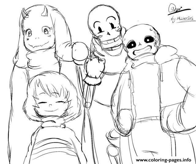 Print Undertale Character From Toby Fox By Mister525 Coloring