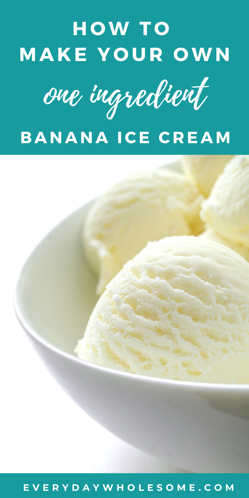 Homemade Banana Ice Cream Recipe With One Ingredient Vegan Easy Healthy Simple No Added In 2020 Banana Ice Cream Healthy Banana Ice Cream Recipe Ice Cream Recipes