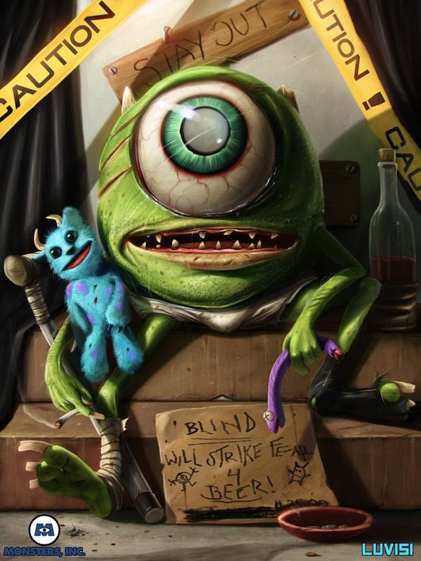 Your Favorite Cartoon Characters Reimagined As Psycho Killers Will - Favourite childhood cartoons look real life