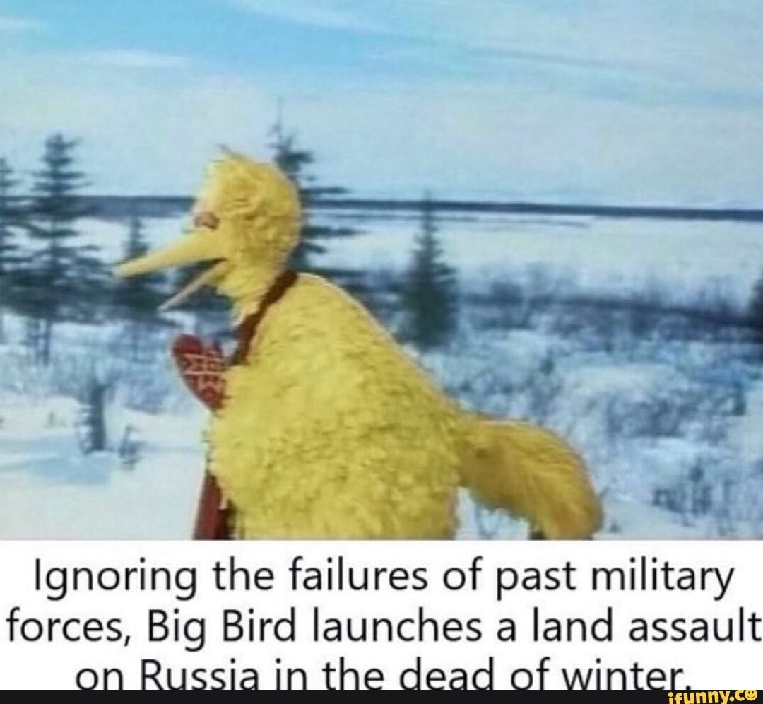 Ignoring The Failures Of Past Military Forces Big Bird