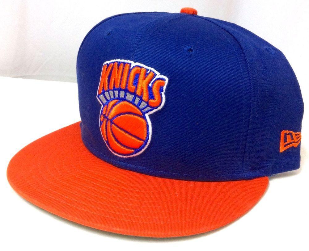 NEW YORK KNICKS SNAPBACK HAT New-Era Blue/Orange Men/Women M/L (See Size Chart) #NewEra #NewYorkKnicks