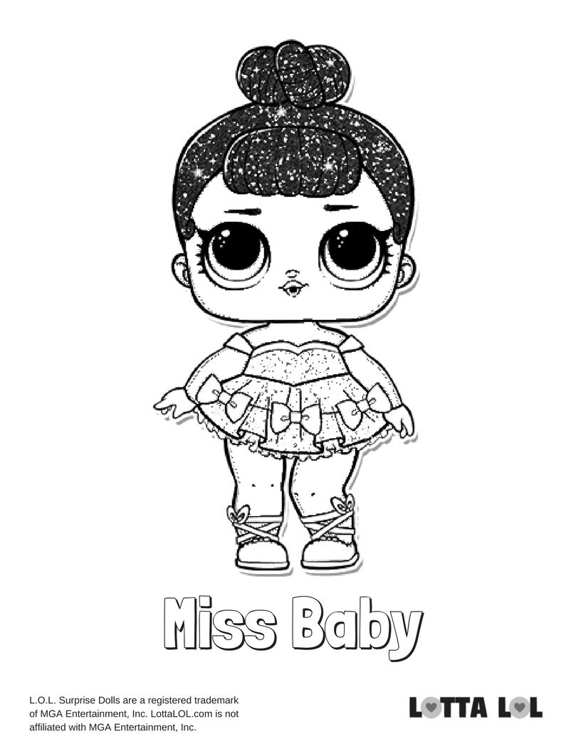 Miss Baby Glitter Coloring Page Lotta Lol Coloring Pages Poppy