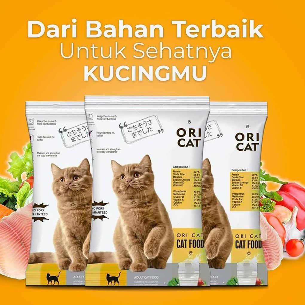 Ori Cat Food Makanan Kucing Berkualitas Dengan Harga Yang Pas Di Kantong Tersedia Dalam 2 Varian Bentuk Kibble Ikan Dan Bulat Ya Kami Men Cat Food