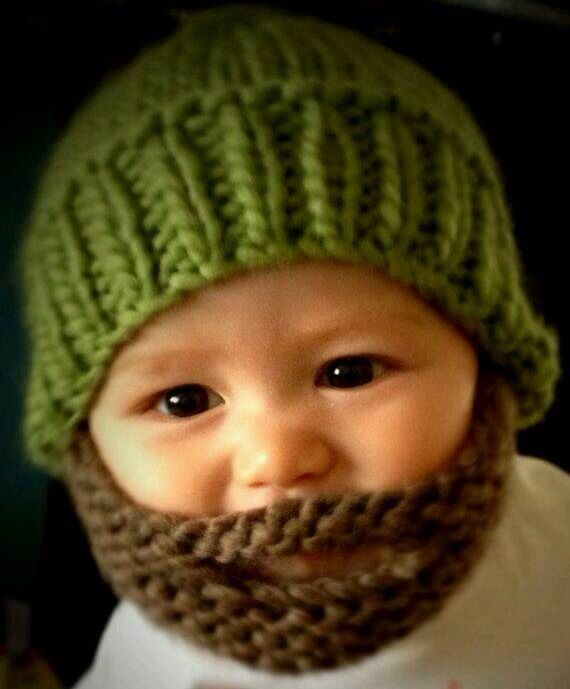Gorro súper original con Barba integrada #baby #cool #hazlostumisma