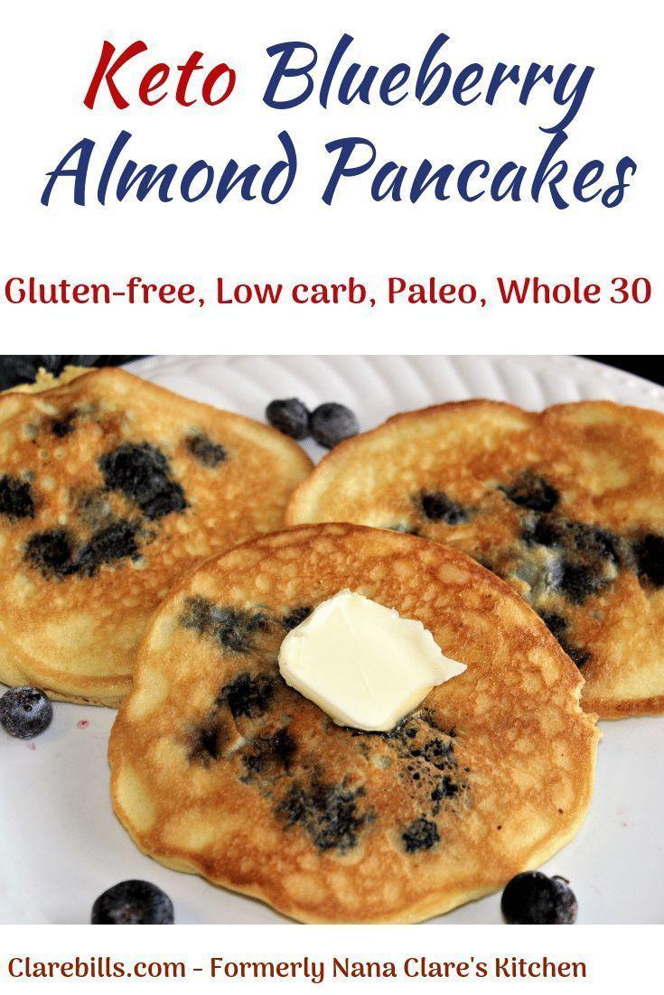 Keto Blueberry Almond Pancakes - Clare Bills