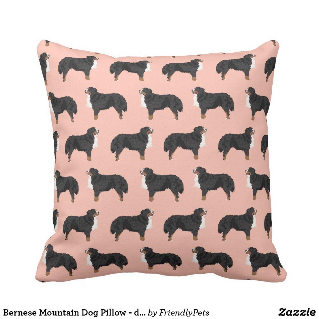 バーニーズ・マウンテン・ドッグの枕-犬のギフト クッション
