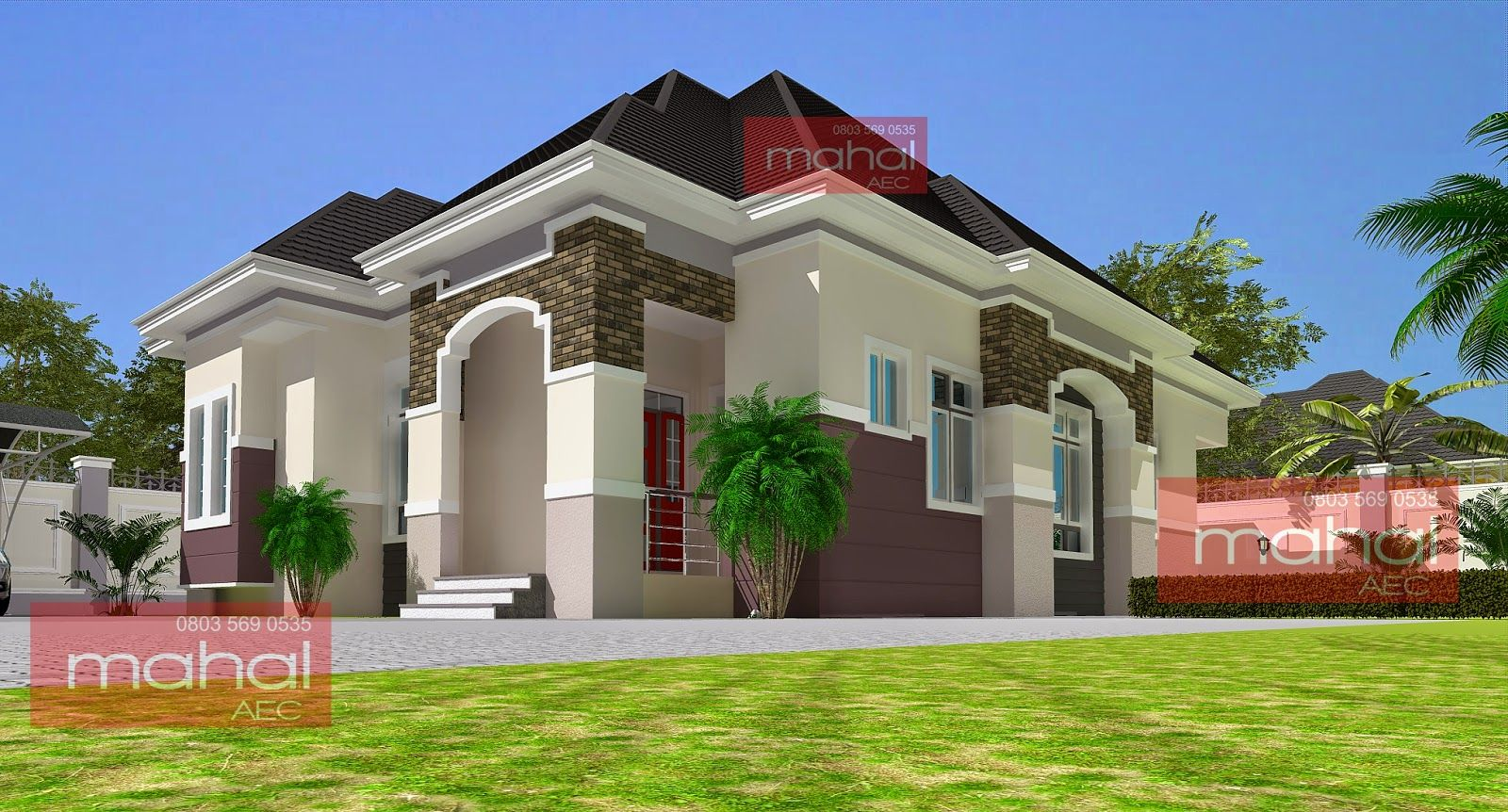Contemporary Nigerian Residential Architecture 3 Bedroom Bungalow Amadi Flats Duplex House Design Bungalow Design Duplex Design