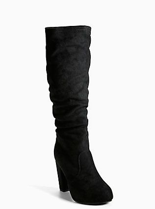 404fbe968f9 Faux Suede Ruched Knee Boots (Wide Width   Wide Calf)