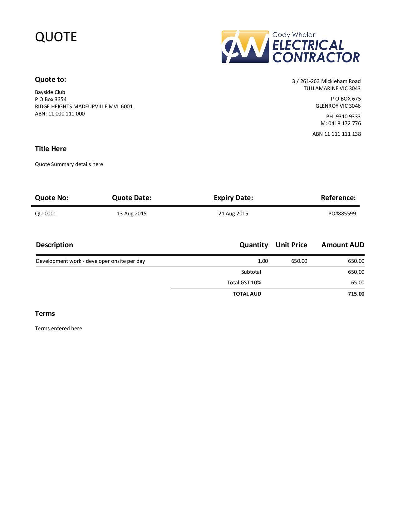 Delivery Docket Xero Customised Invoice  Xero Customized Templates  Pinterest