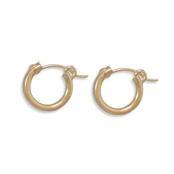 120 12K GoldFilled 2mm 008 x 12mm Hoop Earrings ** Click image for more details. Note:It is Affiliate Link to Amazon.