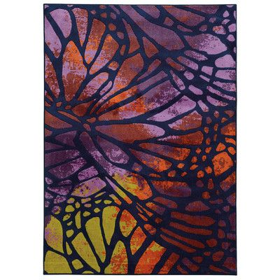 Prismatic Tufted Purple Orange Rug Red Rugs Modern Area Rugs Abstract Rug