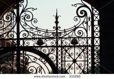 Close Up Of A Wrought Iron Gate Paris France Love The Detail