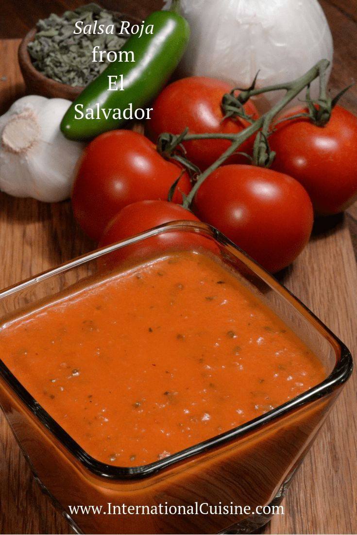 El Salvador Salsa Roja (Red Sauce) - International Cuisine