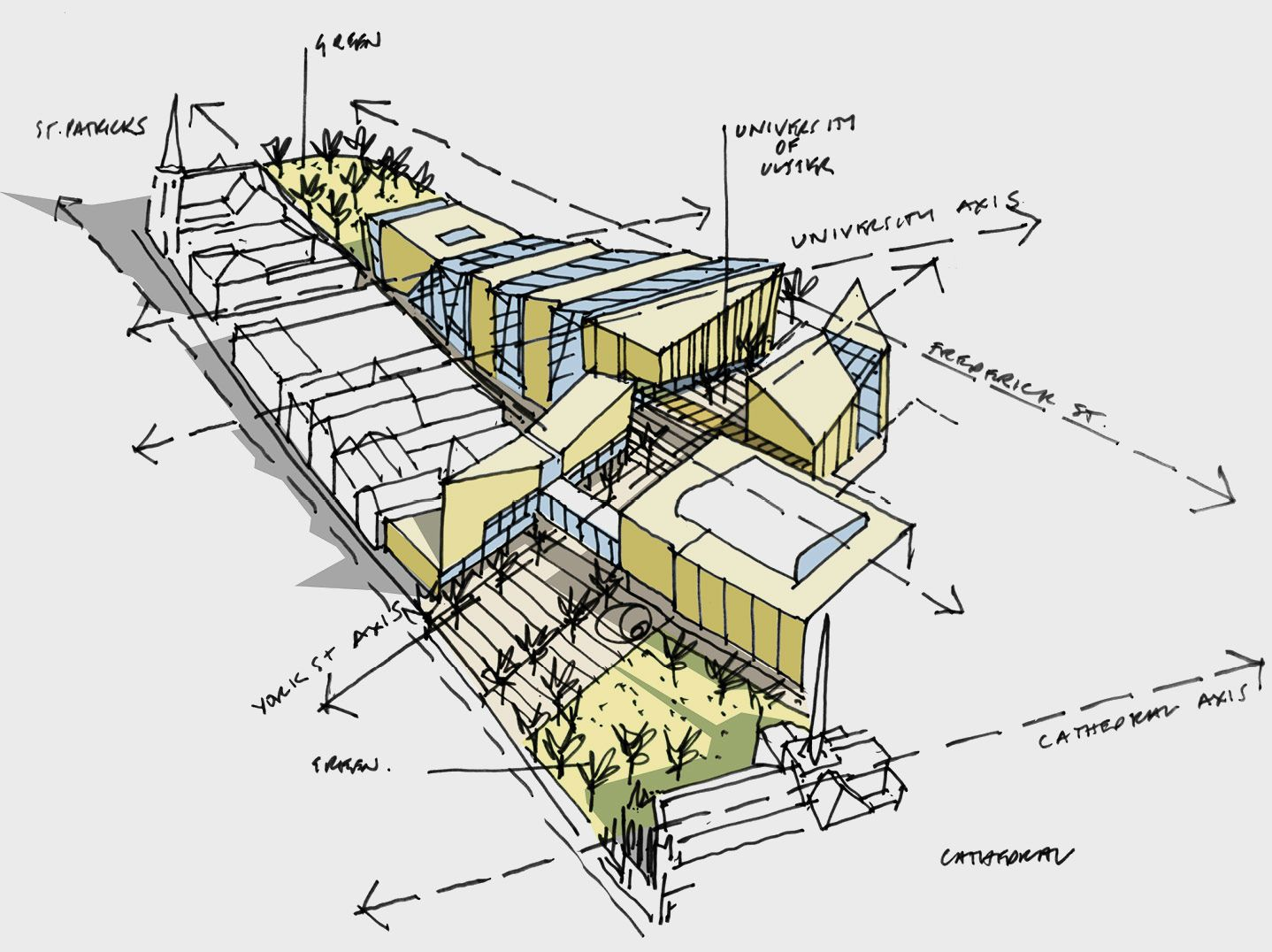 modern architecture sketch. Feilden Clegg Bradley Studios Are An Award-winning Architecture Practice With International Reputation For Design Quality, Pioneering Environmental And Modern Sketch