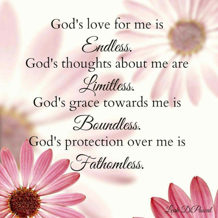 Gods love for me