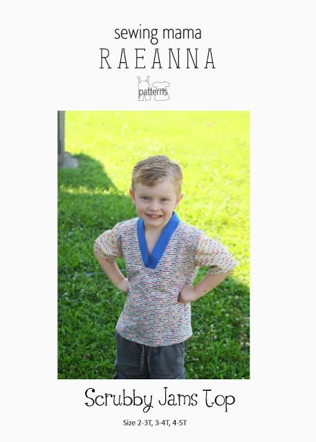 Boys or Girls Scrubby Jams Top - FREE PATTERN--sizes 2-3T, 3-4T, 4 ...