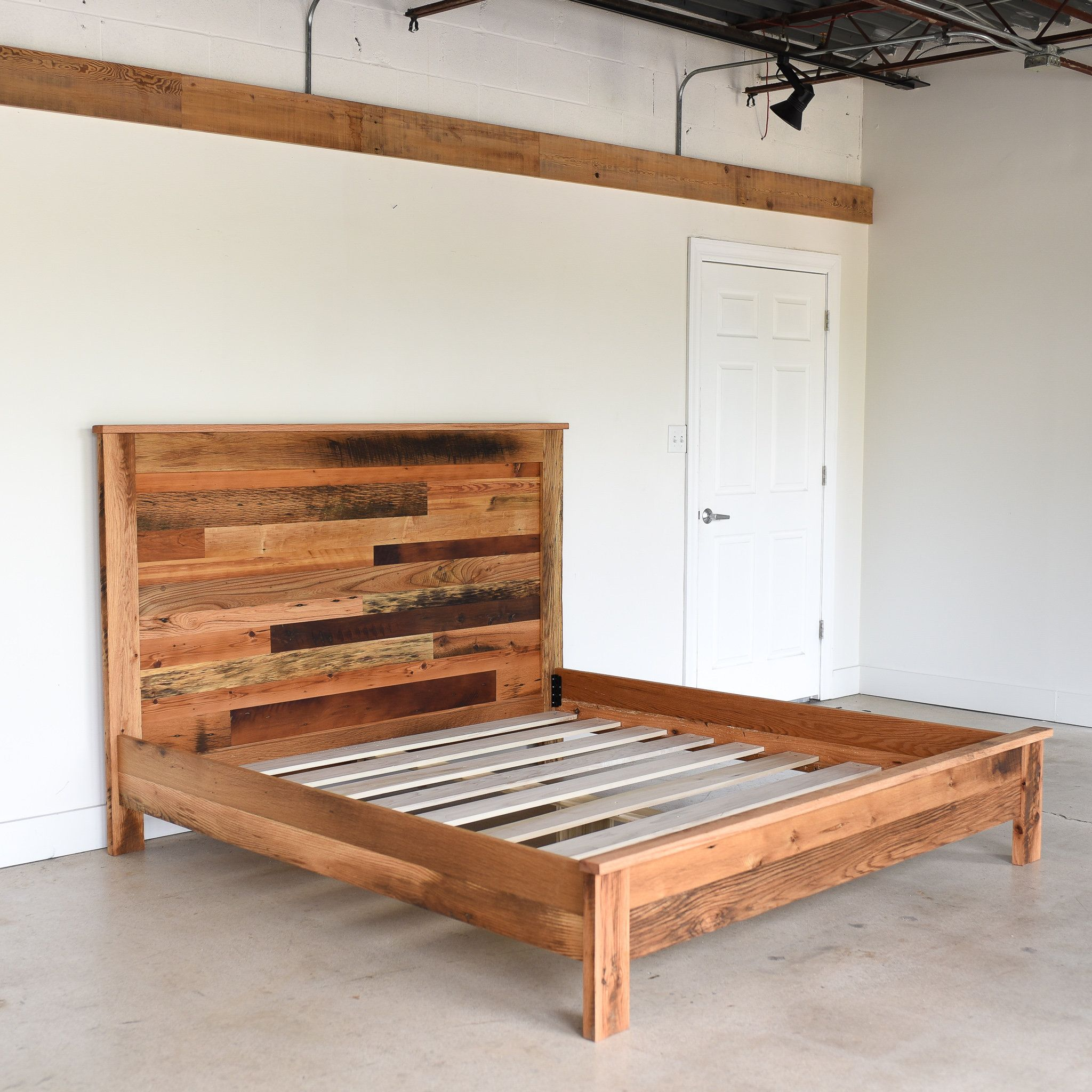 reclaimed wood bed frame