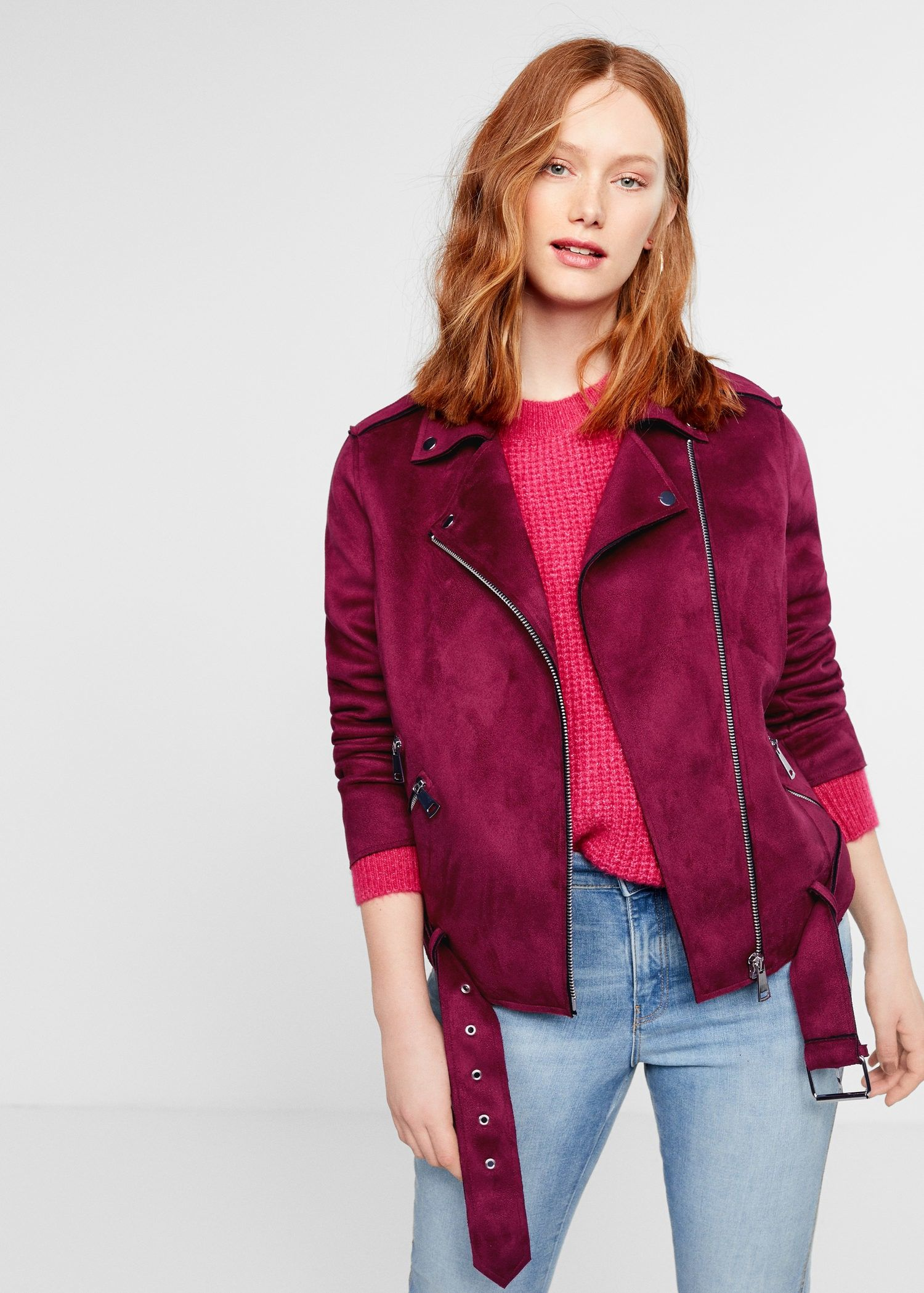 Suede effect jacket Plus sizes Faux leather jackets