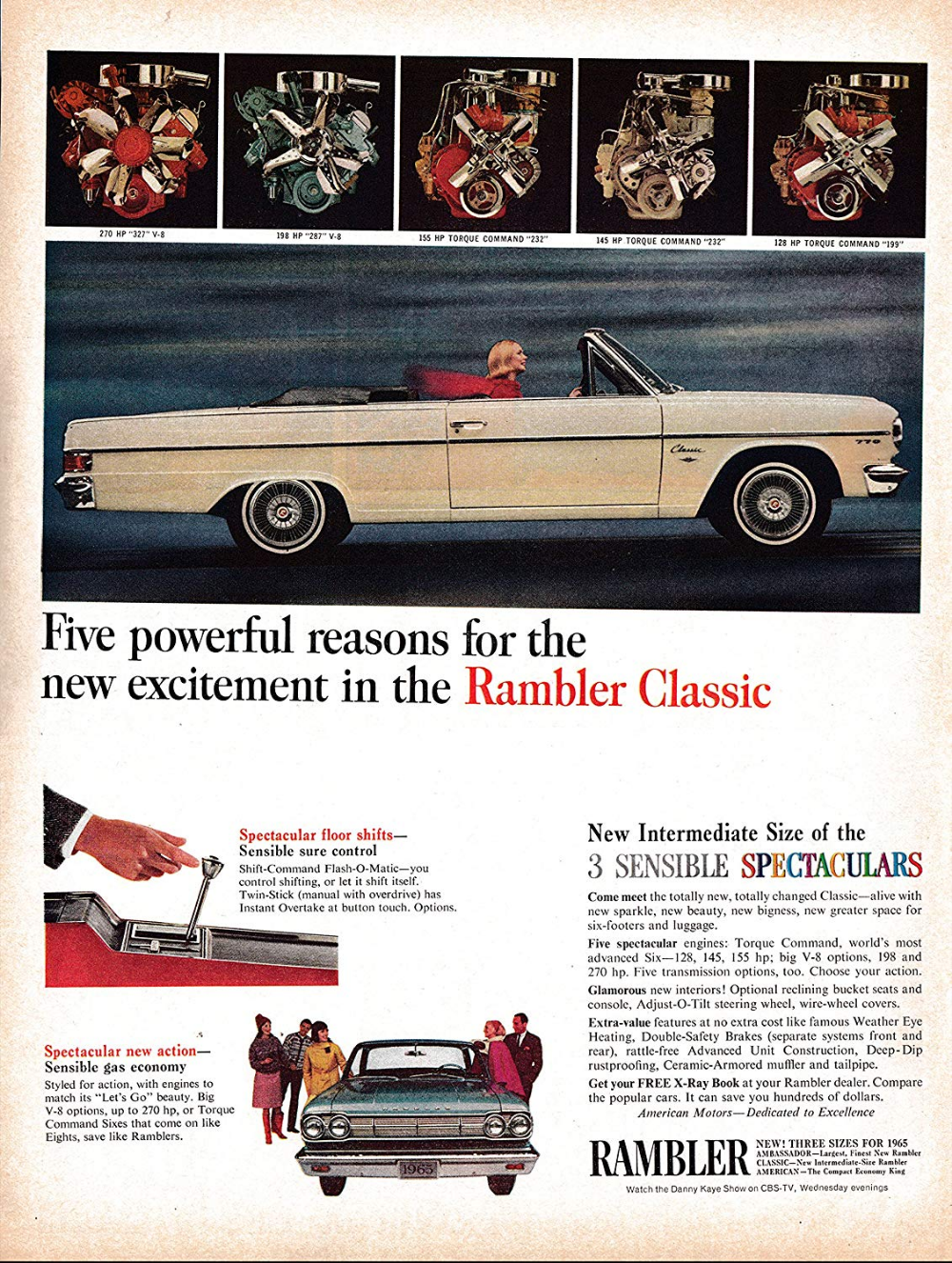 1965 Rambler : rambler, Amazon.com, Rambler, Classic, Convertible, Original, Magazine, Classic-Ads, Rambler,, American, Motors,