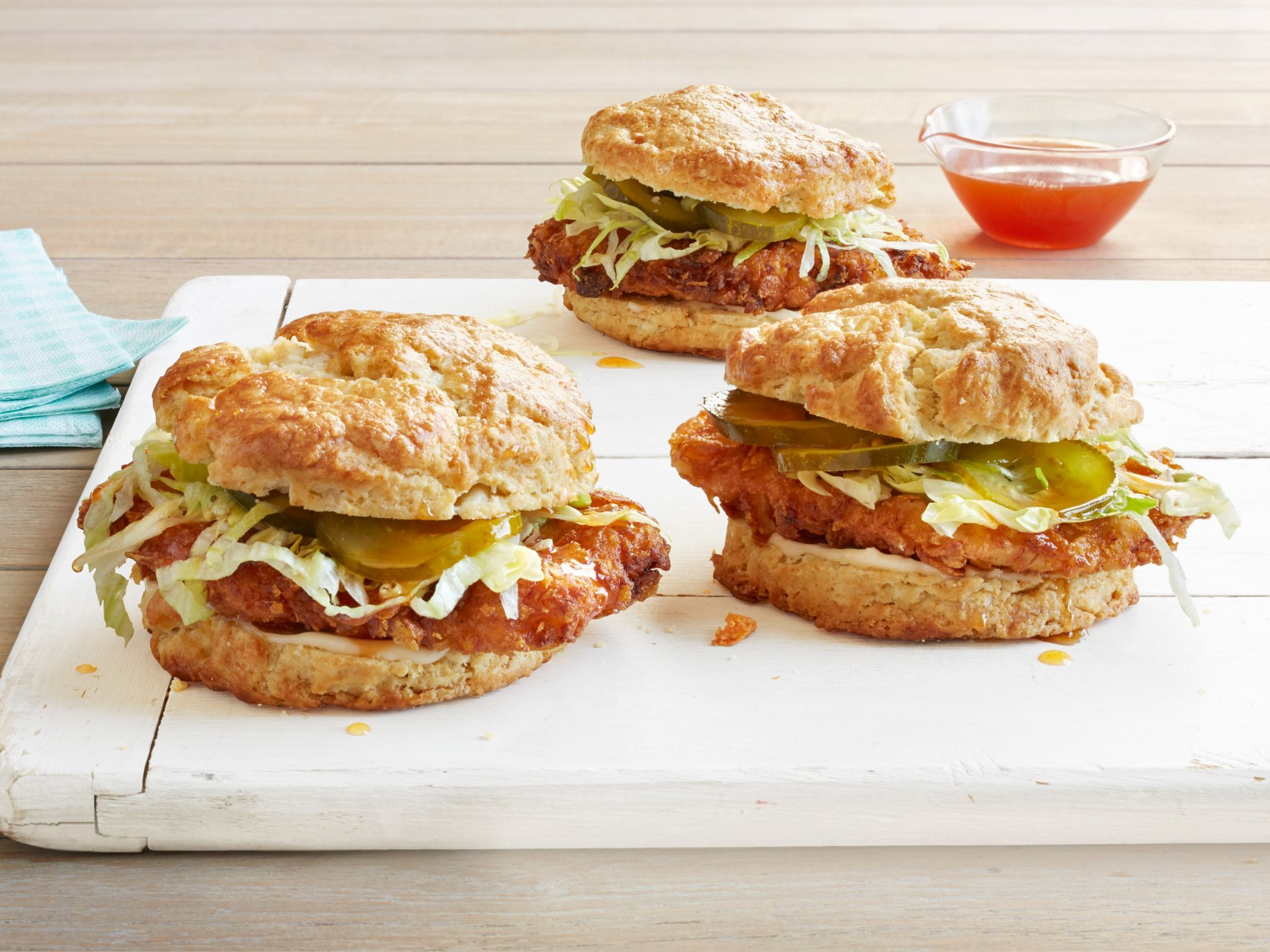 Fried chicken biscuit sandwiches recipe fried chicken fried chicken biscuit sandwiches forumfinder Images