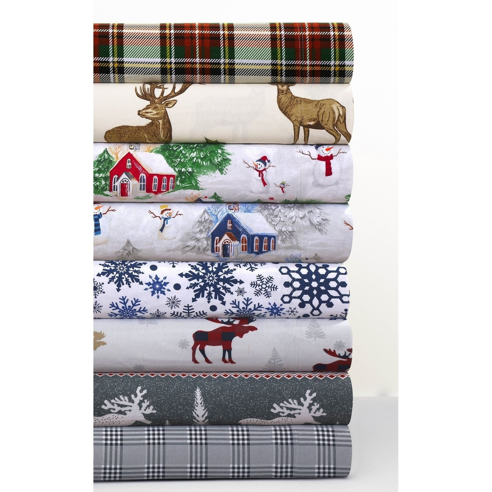 Cozy flannel novelty and holiday printed extra deep pocket