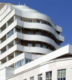 Marine Court, St Leonards - known as the 'Queen Mary' (Dalgleish & Pullen, 1937) East Sussex