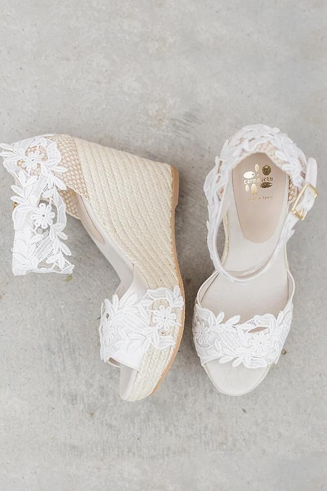 30 Wedge Wedding Shoes To Walk On Cloud 30 Wedge Wedding Shoes To Walk On Cloud 30 Wedge Wedding Shoes To Walk On Cloud  wedge wedding shoes white with lace for beach say...