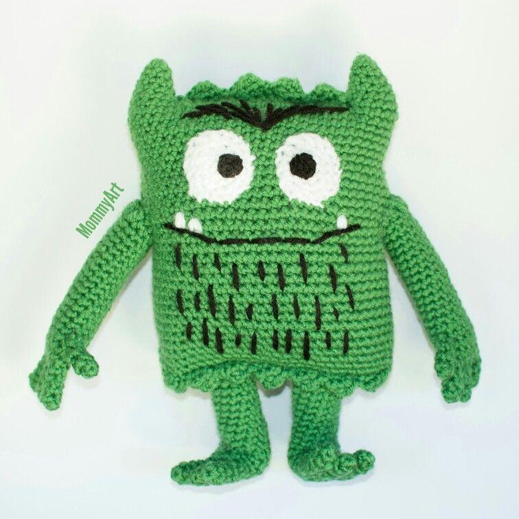 Hermosa Patrón De Crochet Alta Cráneo Del Monstruo Embellecimiento ...