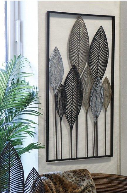 Wanddecoratie Metaal Palm Bladeren Decoratieve Muren Doe Het Zelf Wanddecoraties Woonkamer Decoratie